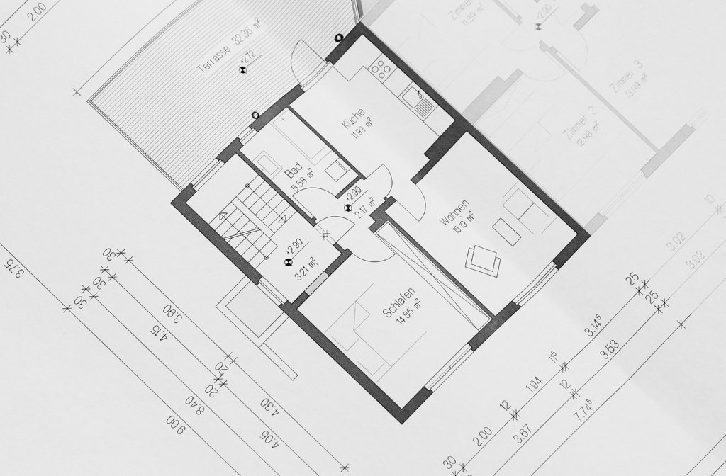 architectural floor plan and room layout.