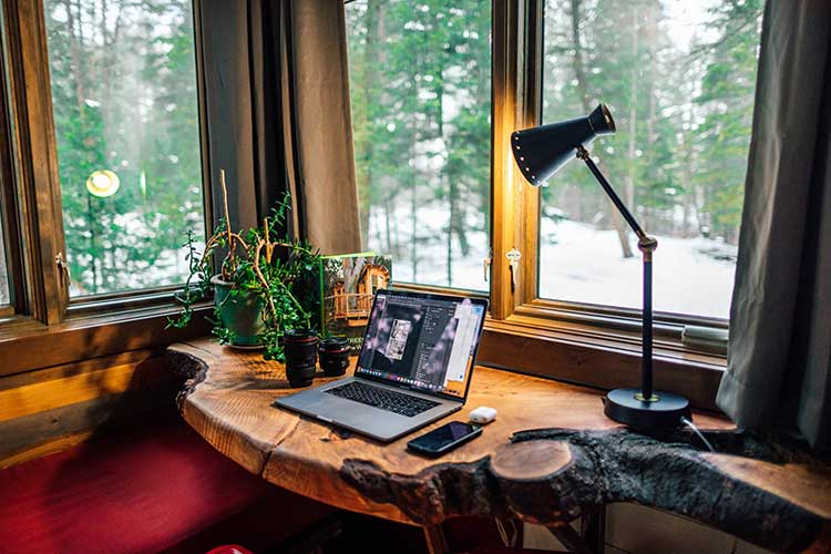eclectic home office design