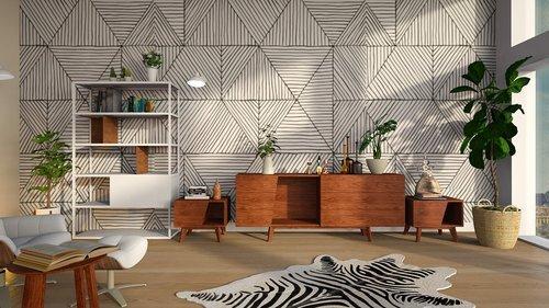 interior wallpaper and carpet