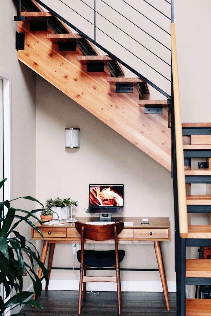 mid century modern home office interior design