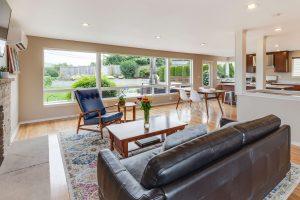 mid century modern living room sample
