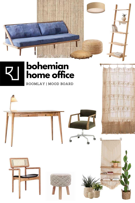 bohemian furniture mood board