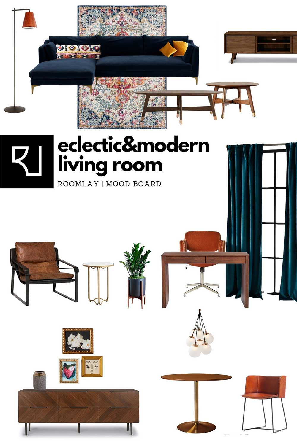 Eclectic modern living room furniture ideas
