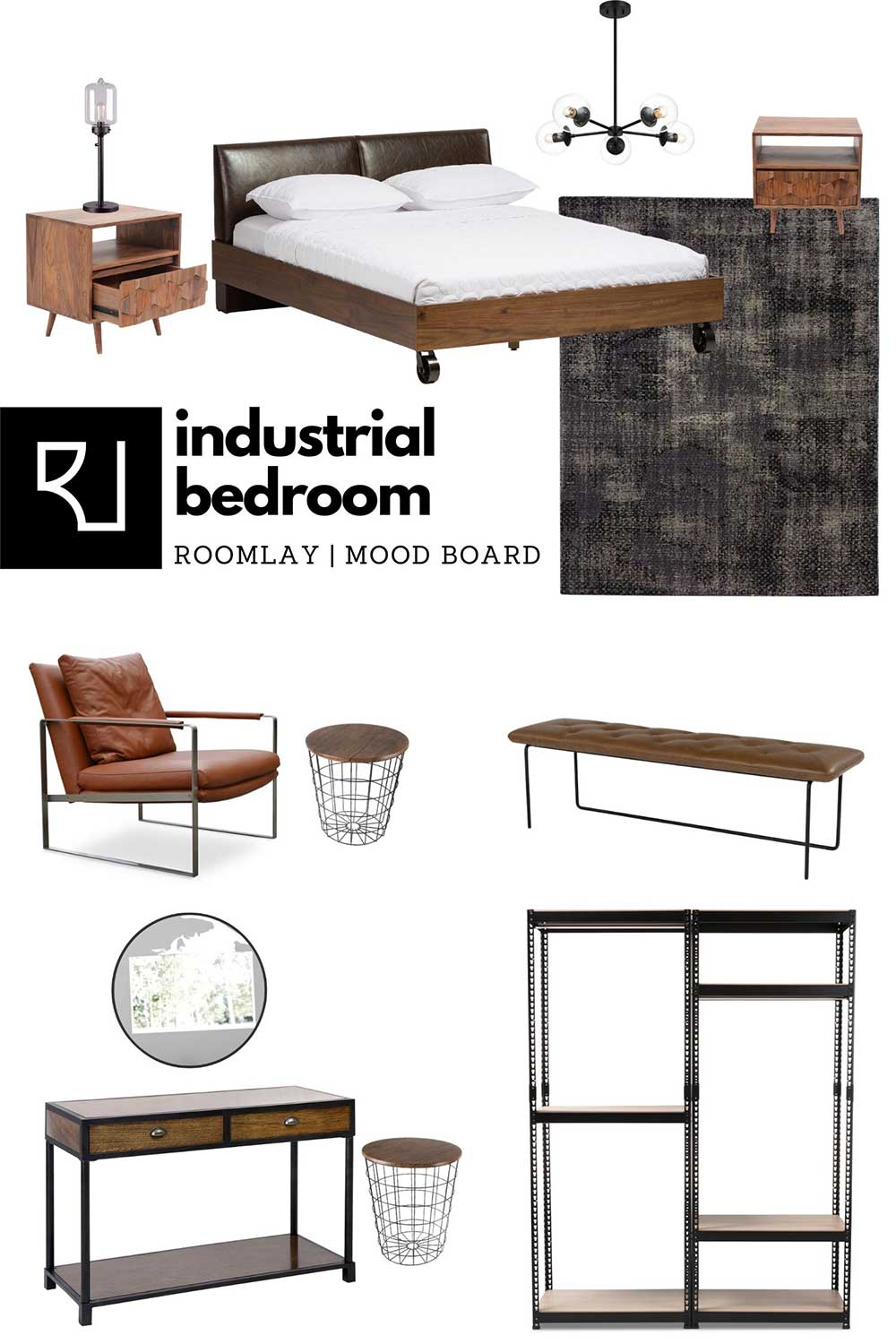 industrial bedroom furniture and decor ideas