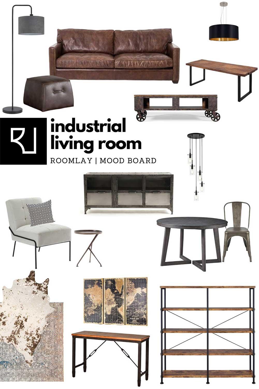 industrial living room furniture concept
