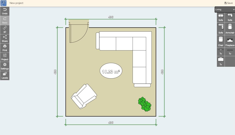 Floor plan creator, online room layout tool