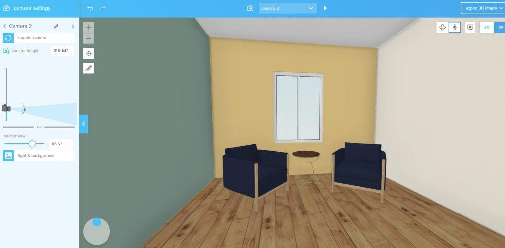 Floorplanner 3D interface
