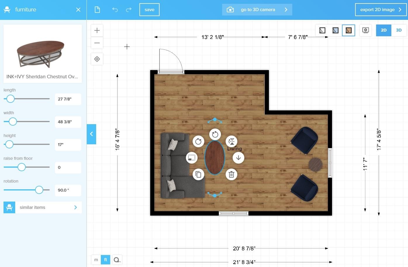 Floorplanner room layout software