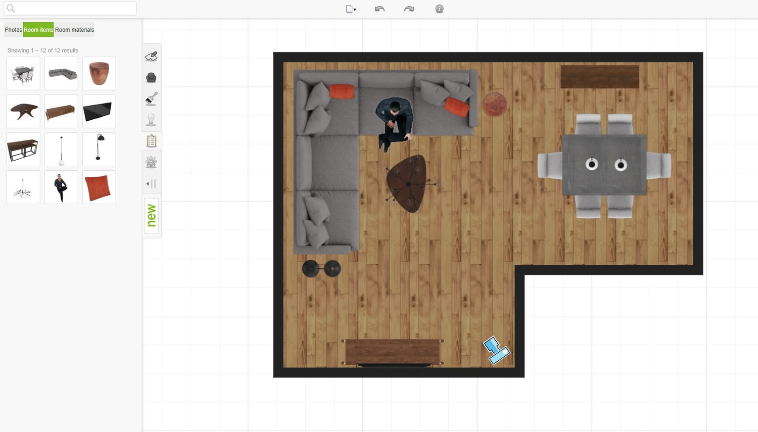 Roomstyler room layout tool.