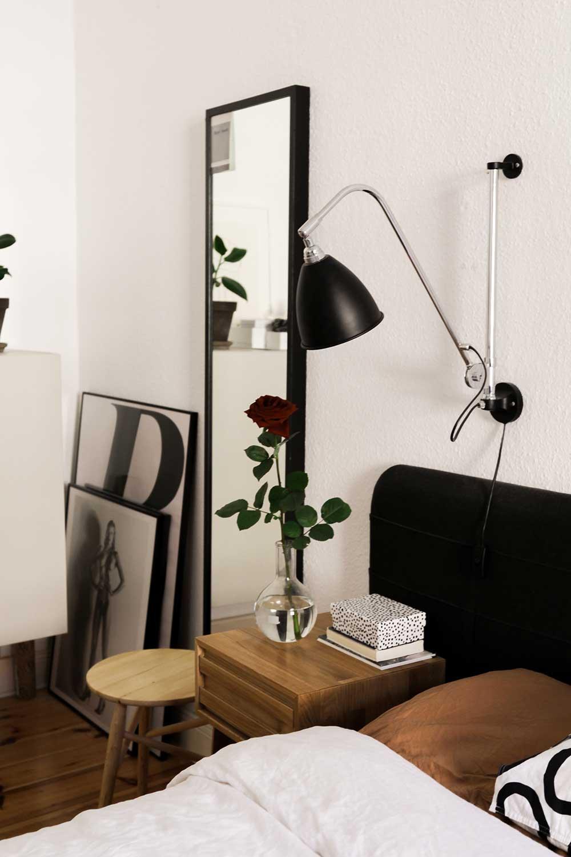 Bedroom nightstand arrangement idea