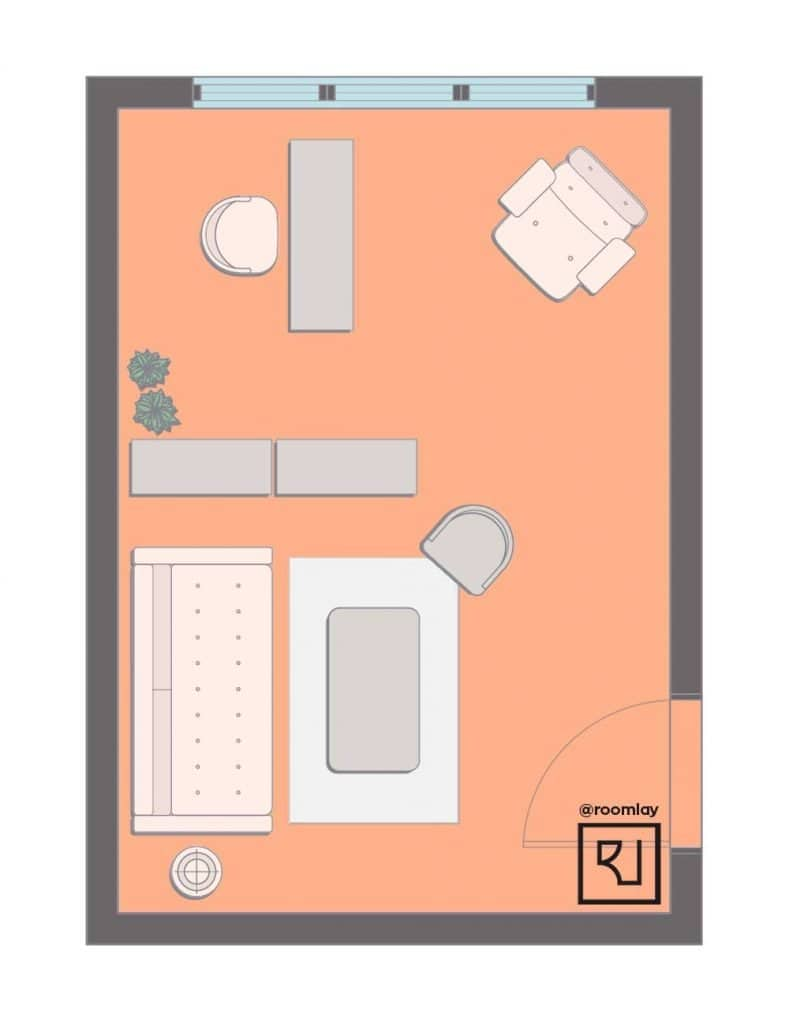 home office layout with divider