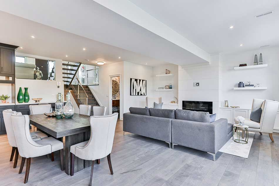 Living And Dining Room Combo With 5, Small Dining Room And Living Combo