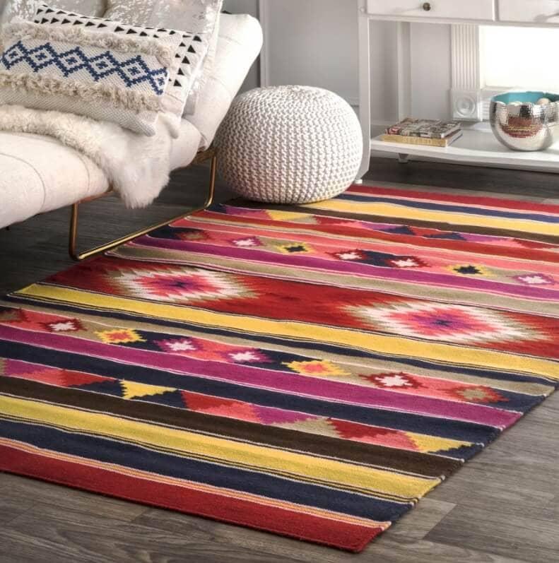 boho tribal colorful kilim