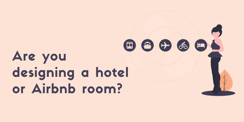 Roomlay designing airbnb room infographic.