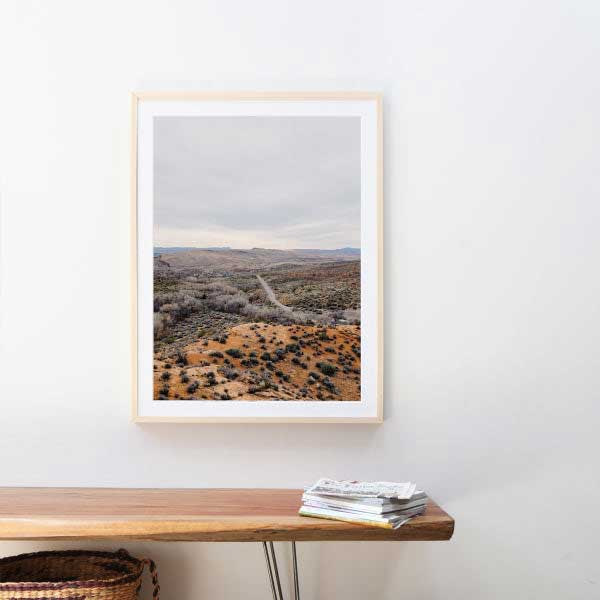 Single frame hanging on the wall.