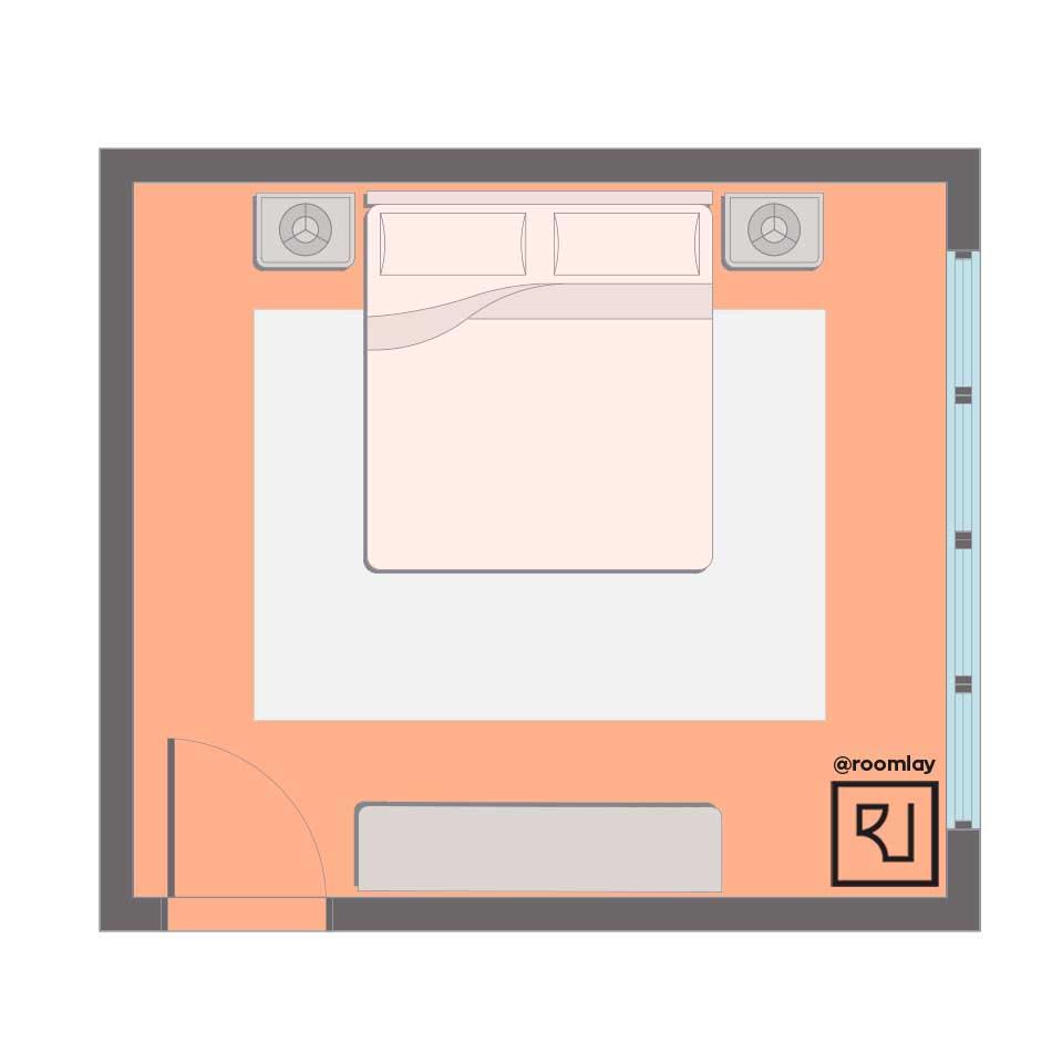 Best feng shui bedroom layout example floor plan