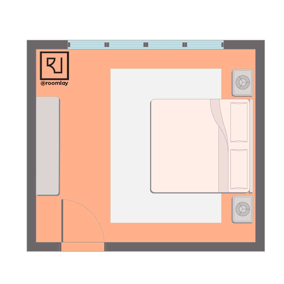 Right feng shui bedroom plan.