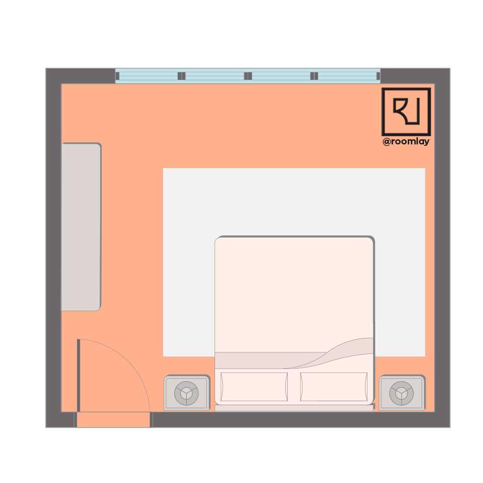 Good feng shui bedroom layout sample