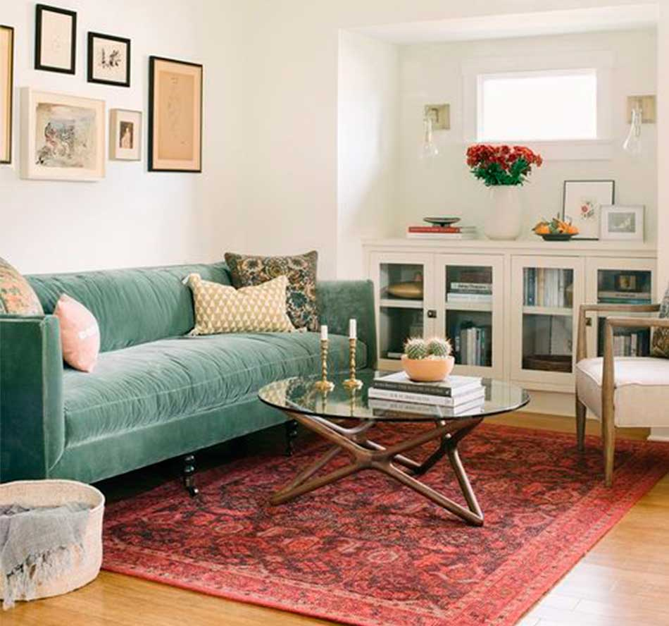 exotic eclectic green couch