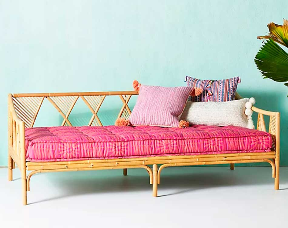 Rattan peacock daybed