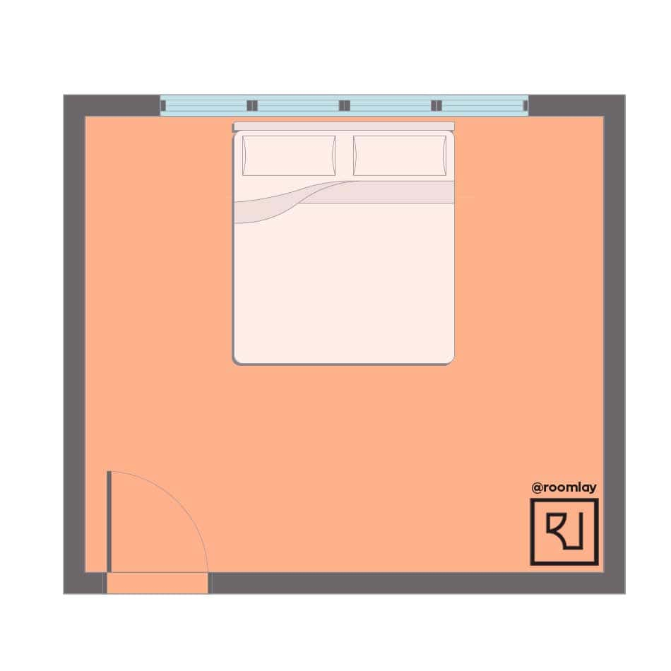 Worst bedroom layout according to feng shui rules.