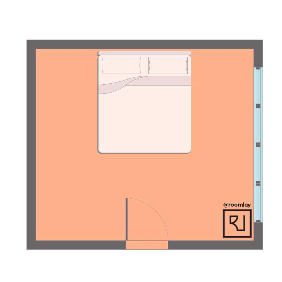 Bad feng shui bedroom plan sample.