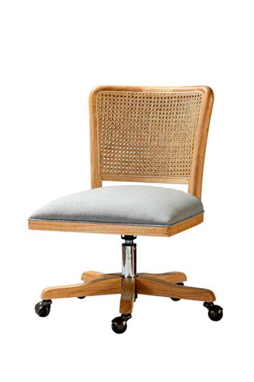 Boho rattan desk chair