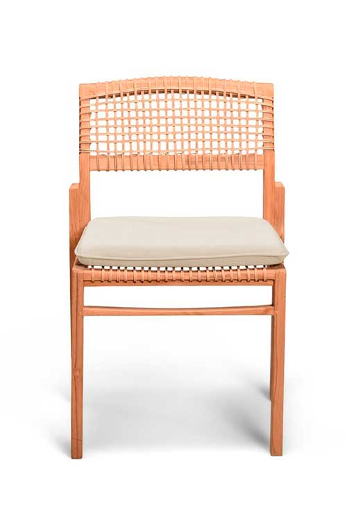 Boho upholstered dining chair