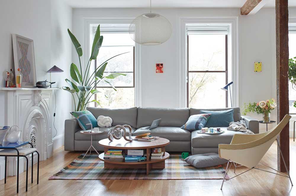 Space saving furniture; sleeper sofa with storage