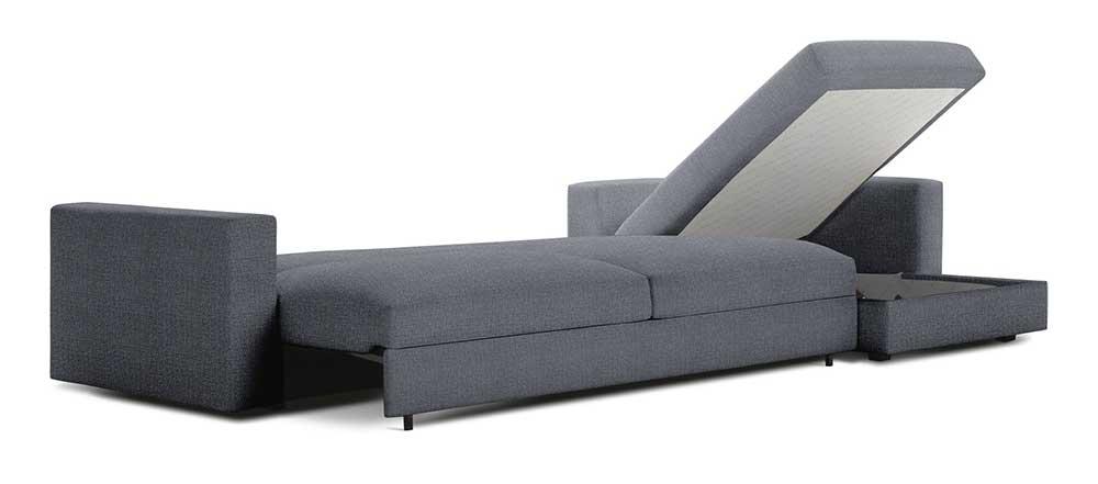 Sleeper sofa with storage for space saving