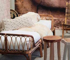 Bohemian rattan sofa