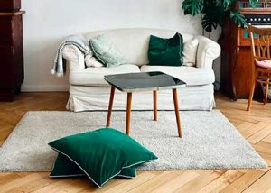 small size sofa and space saving coffee table