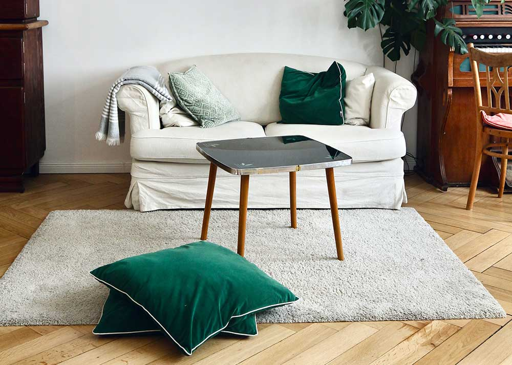 Small scale sofa for apartments