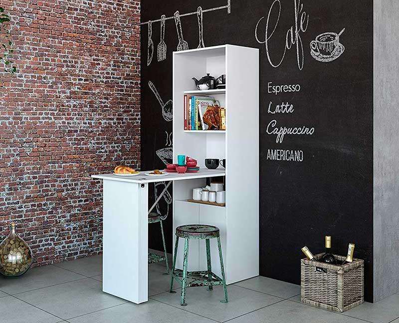 White Color Multipurpose Cabinet with Desk