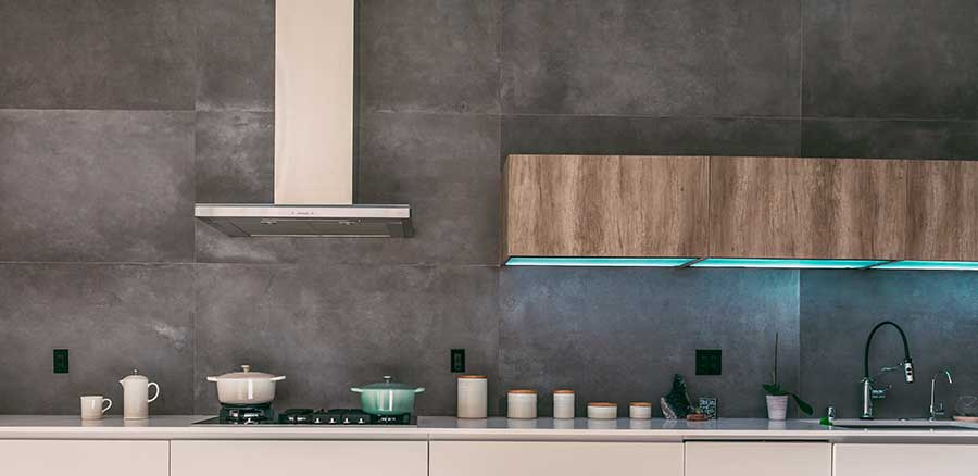 One-wall kitchen example.