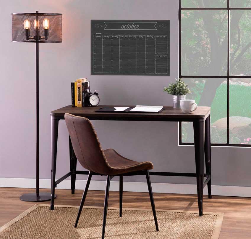 Metal frame home office desk