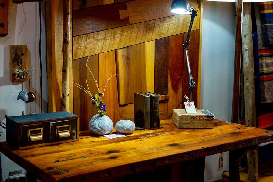 rustic industrial style desk