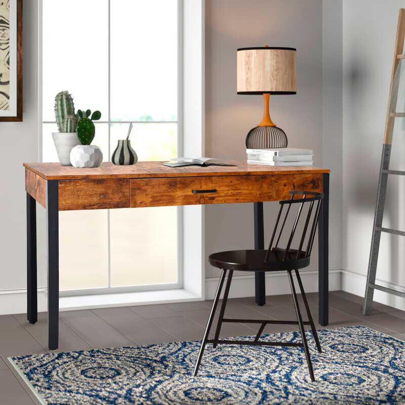 rustic style wooden desk