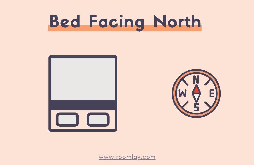 Bed Facing North illustration.